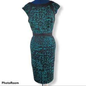 London Times   Color Block Sheath Dress